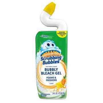 Scrubbing Bubbles - Toilet Bowl Cleaner Gel w/Bleach - Citrus - 9/710ml