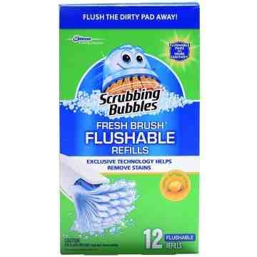 Scrubbing Bubbles - Toilet Fresh Brush Flushable Refill - 12/12ct