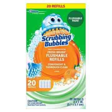 Scrubbing Bubbles - Toilet Fresh Brush Flushable Refill - 6/28ct