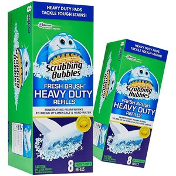 Scrubbing Bubbles - Toilet Fresh Brush Heavy Duty Refill - 8/8ct