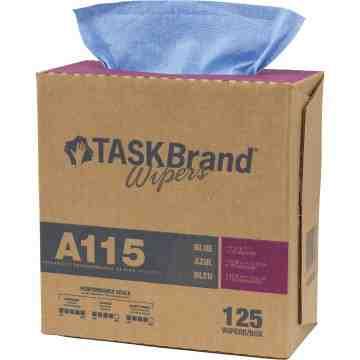 "TaskBrand® A115 Advanced Performance Wipers Box of 125, 16"" x 12"""