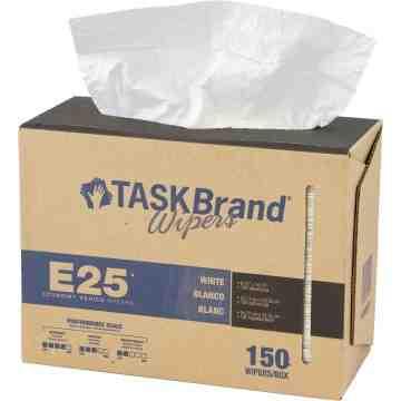 "TaskBrand® E25 Economy Series Wipers Box of 150 9.5"" x 16"""