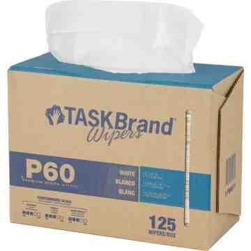 TaskBrand® P60 Premium Series Wipers Box of 125
