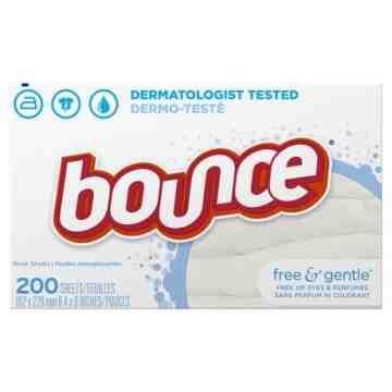 Bounce - Sheet Fabric Softener Free & Gentle - /200ct