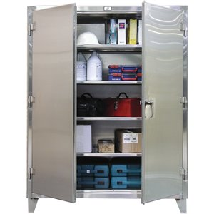 """Extra Heavy-Duty Stainless Steel Cabinets 60""""x24""""x72"""""""