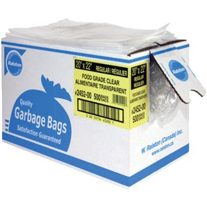 """Food-Grade Garbage Bags 35""""x50"""" X-Strong"""