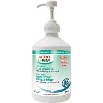 Aerochem Hand Sanitizer, 70% Alcohol, 500mL - 1