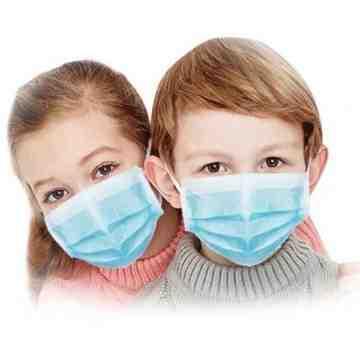 Disposable Face Mask, 3-Ply Disposable Masks, ASTM Level 2,  Blue, Child Size, 50/BX - 2