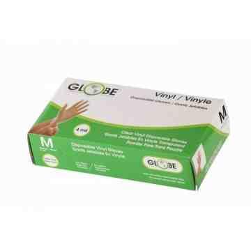 Gloves - Vinyl Powder Free 4mil - 100/bx/10bx/cs - Clear - Medium, 1000/CS - 2