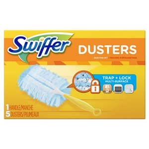 Swiffer Duster - 180 Original Starter Kit Unscented (1hdl/5dusters) - 6/1ct