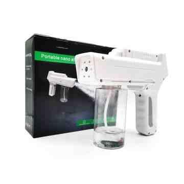 Rechargeable Blue Light Nanotechnology Steam Gun Atomizing Fogger Disinfection Sprayer, Wireless Spray Machine - 8