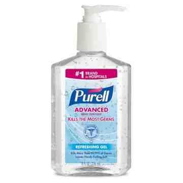 PURELL® Advanced Instant Hand Sanitizer - 8 fl oz Pump Bottle, 9652-12, 1/CS - 1
