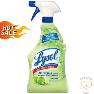 0-59631-77787 Lysol All Purpose Disinfectant, Trigger -Green Apple-12 x 650ml