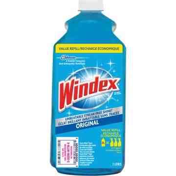 Windex® Glass Cleaner Refill Bottle 2L
